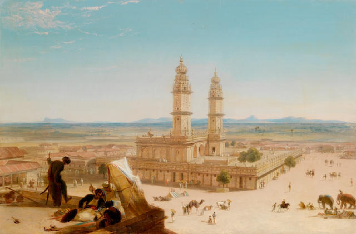 The Jumma Masjid, oil on canvas by William Daniell, c.1833-4