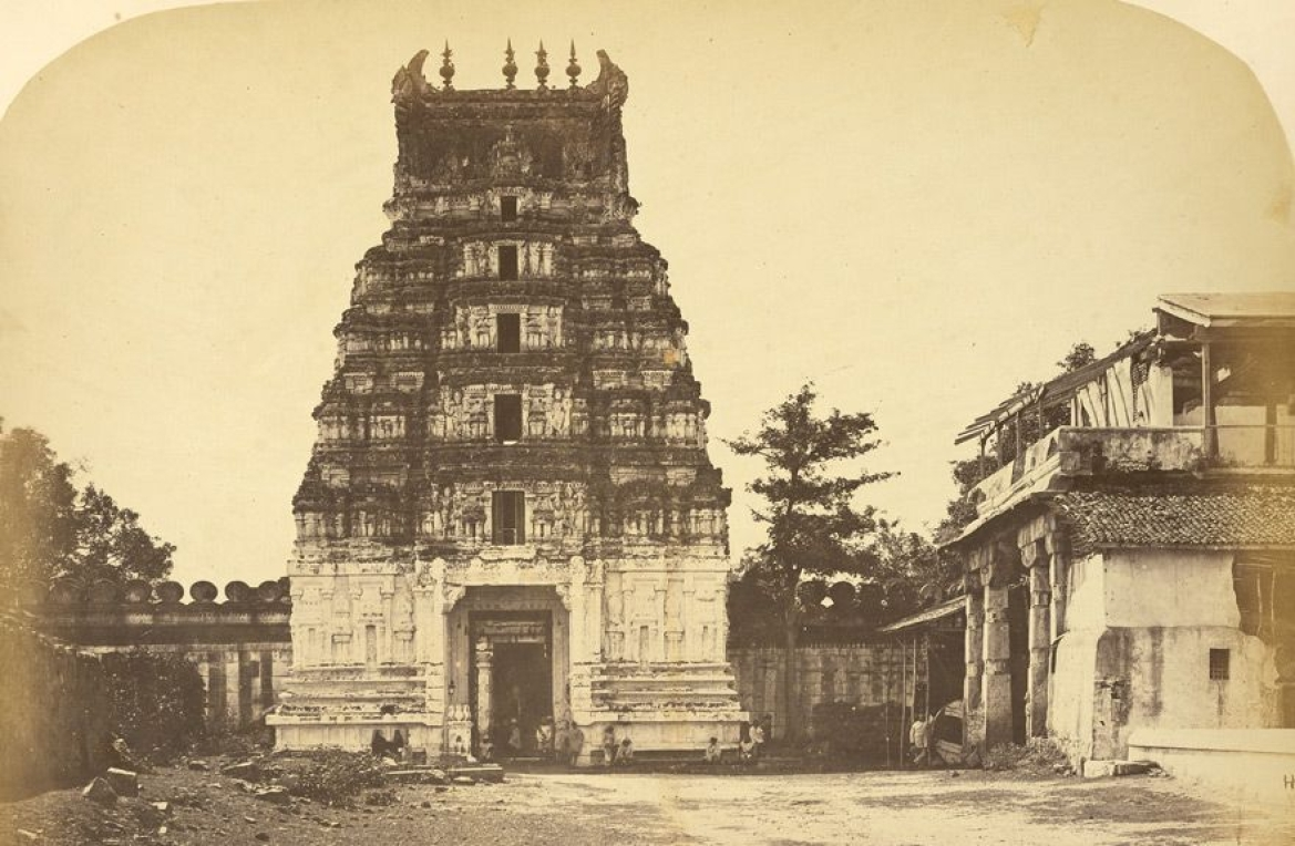 Sri Ranganatha Temple, a photo by Henry Dixon, c. 1863