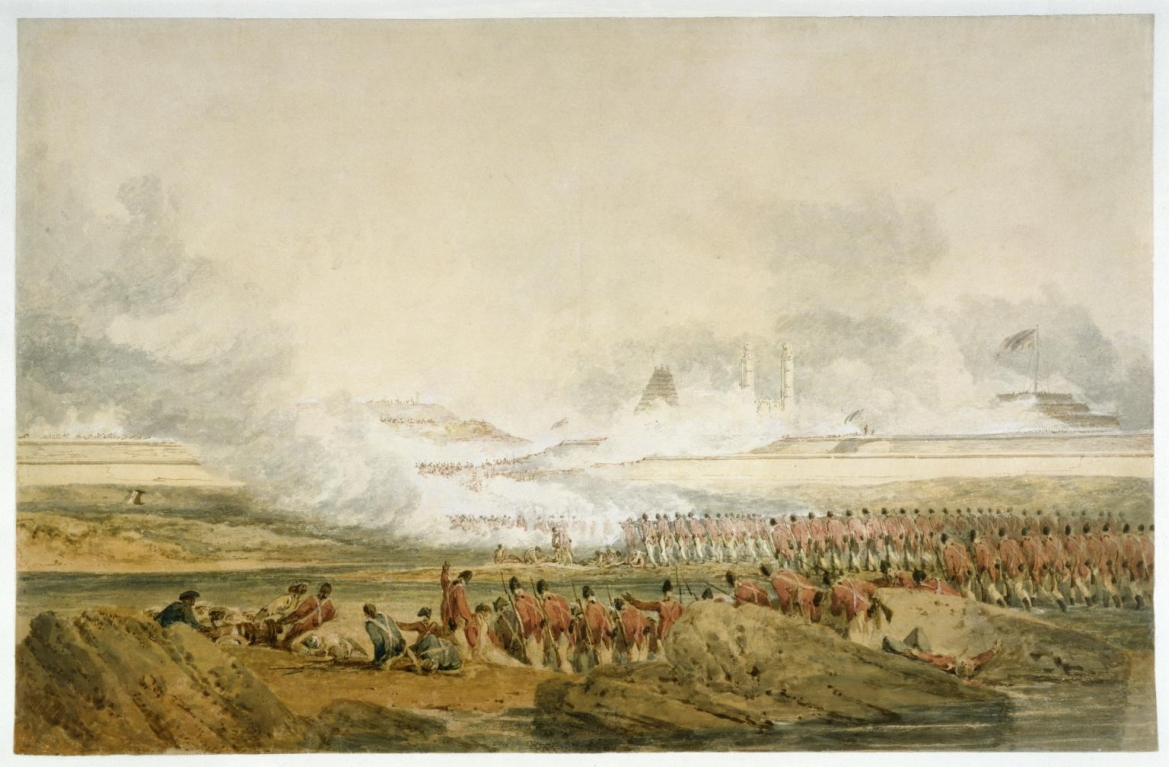 'The Siege of Seringapatam', painting by Joseph Mallord William Turner, c.1800