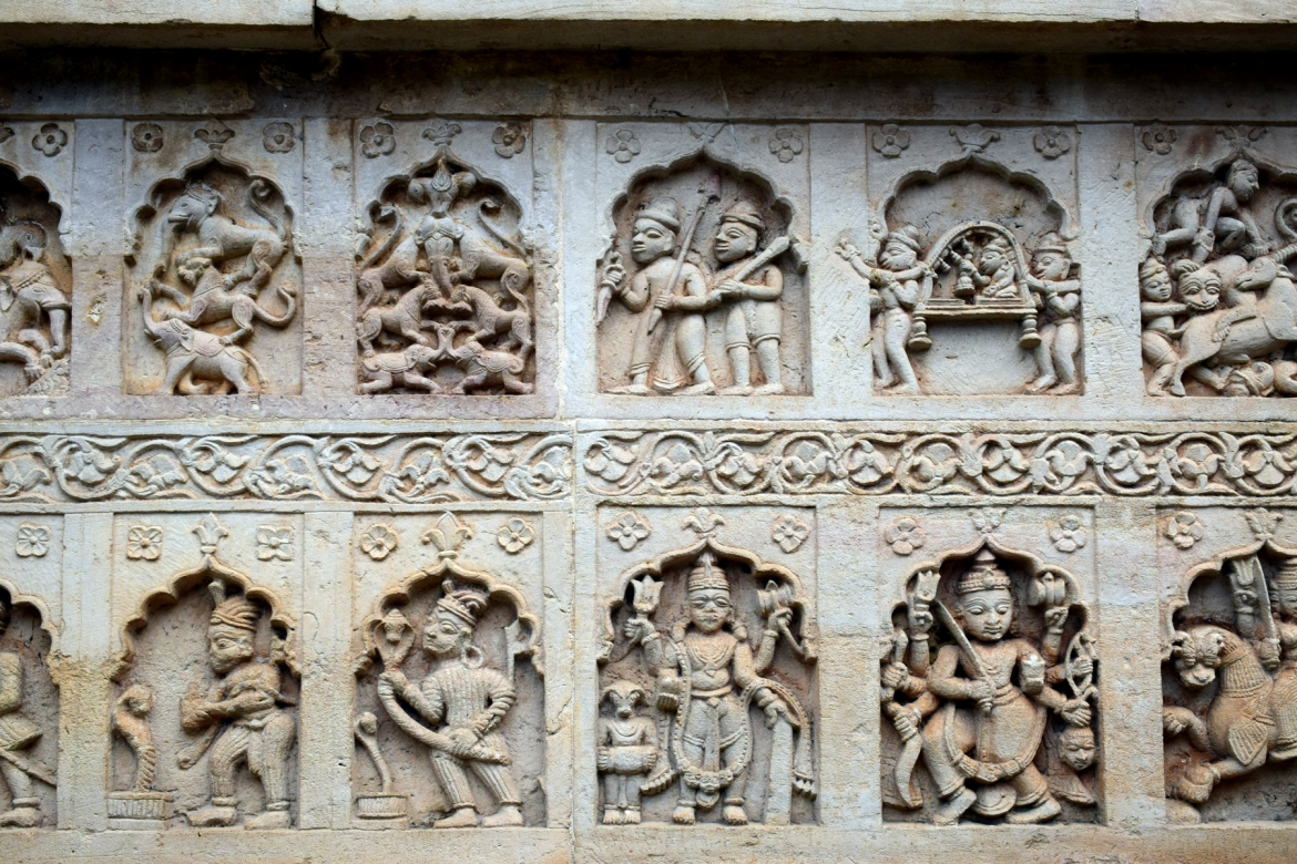 Panels on Anchaleshwar temple