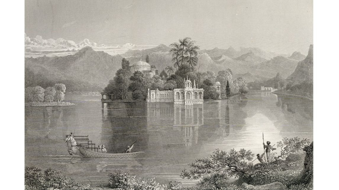 An engraving of the Jag Mandir Palace from the <i>Annals</i>