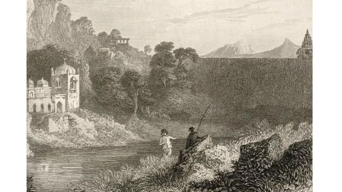 James Tod fishing at the source of the Banas River