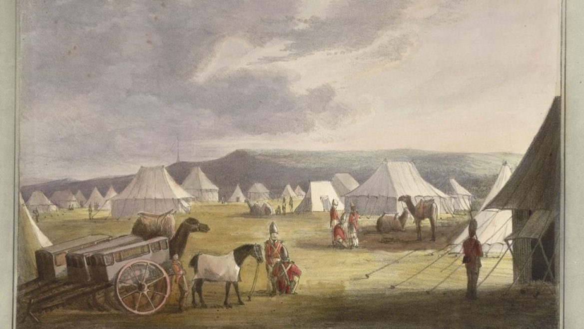 A Camp Scene from the Third Anglo Maratha War