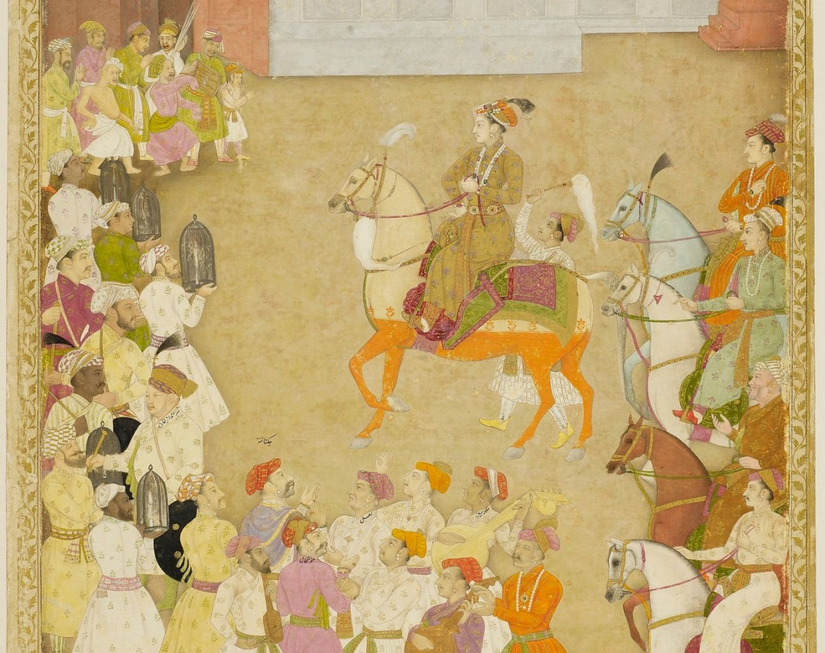 Wedding procession of Dara Shikoh, with Shah Shuja and Aurangzeb behind him