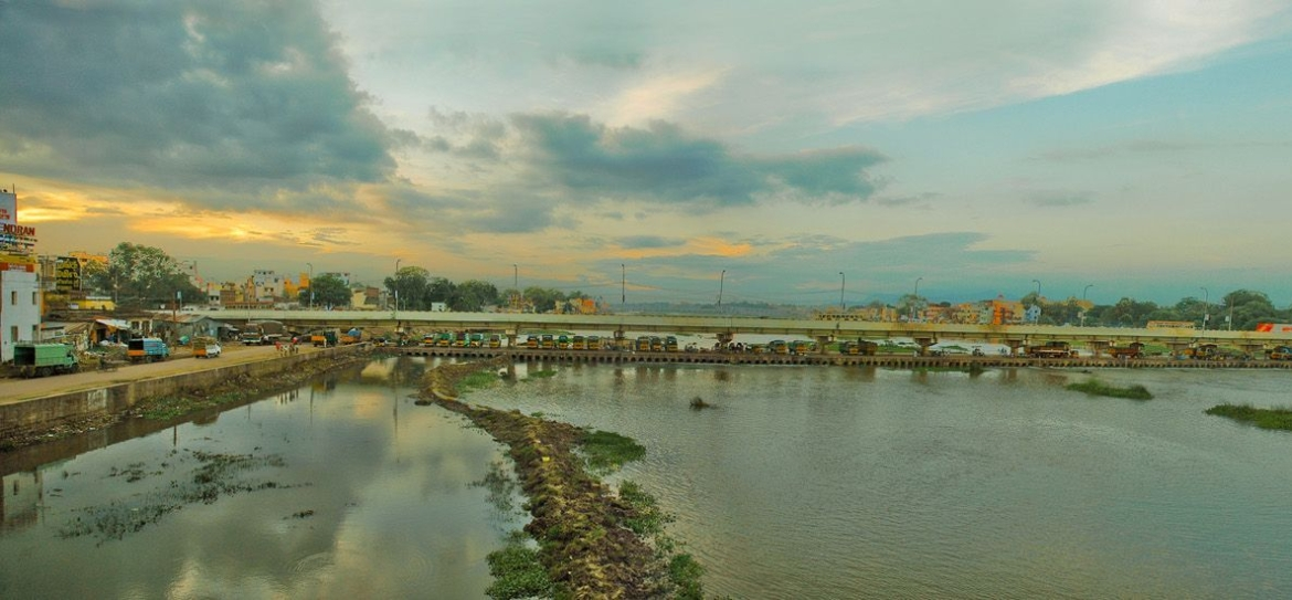 Vaigai river in Madurai