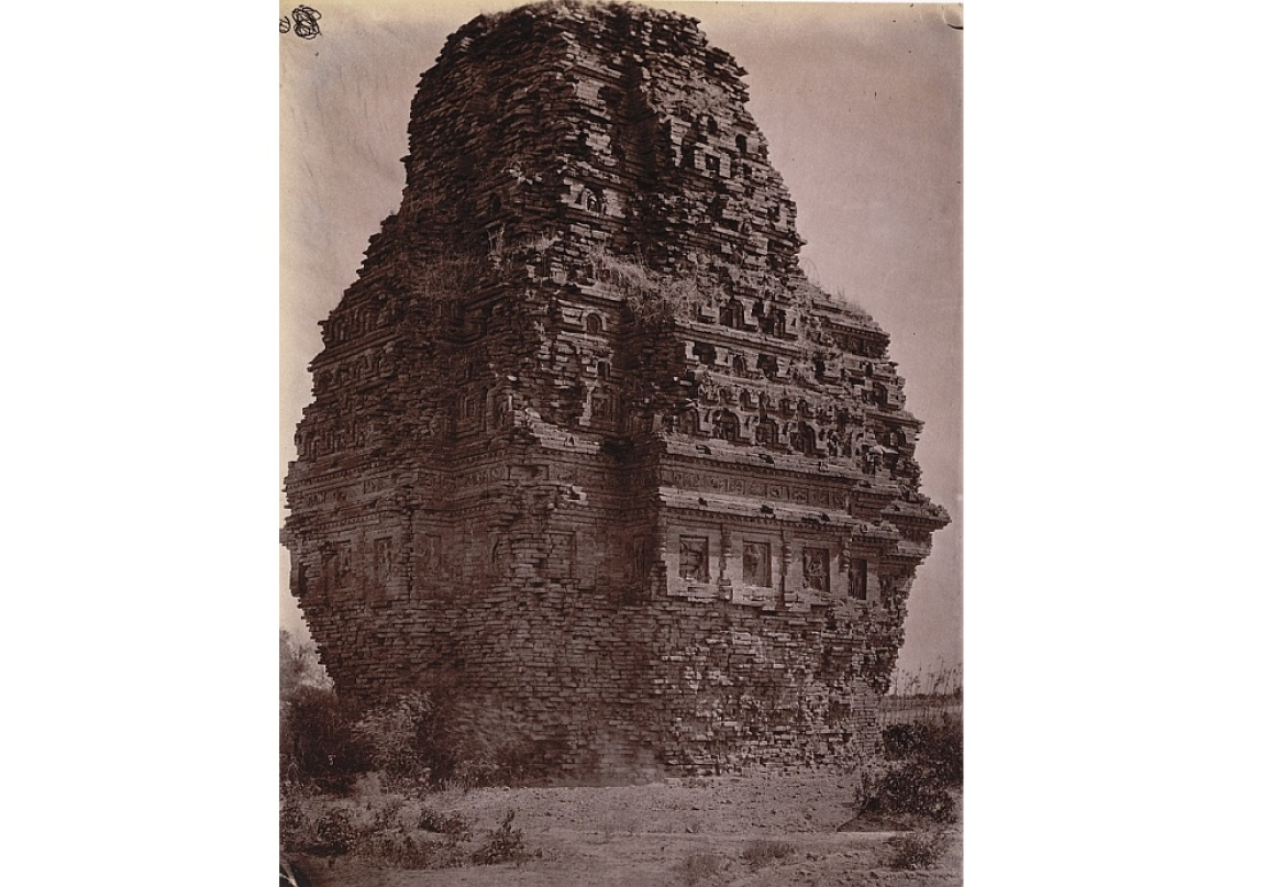 The Temple at Bhitargaon in 1875