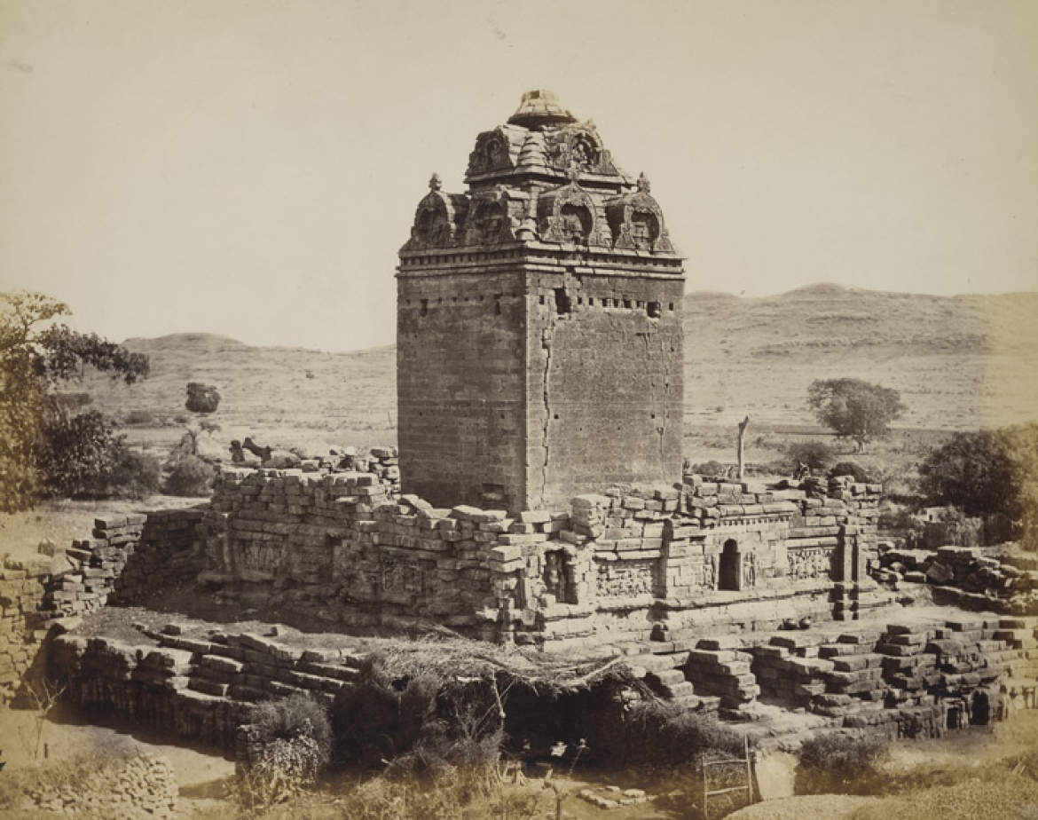 The temple at Gop in the 1870s