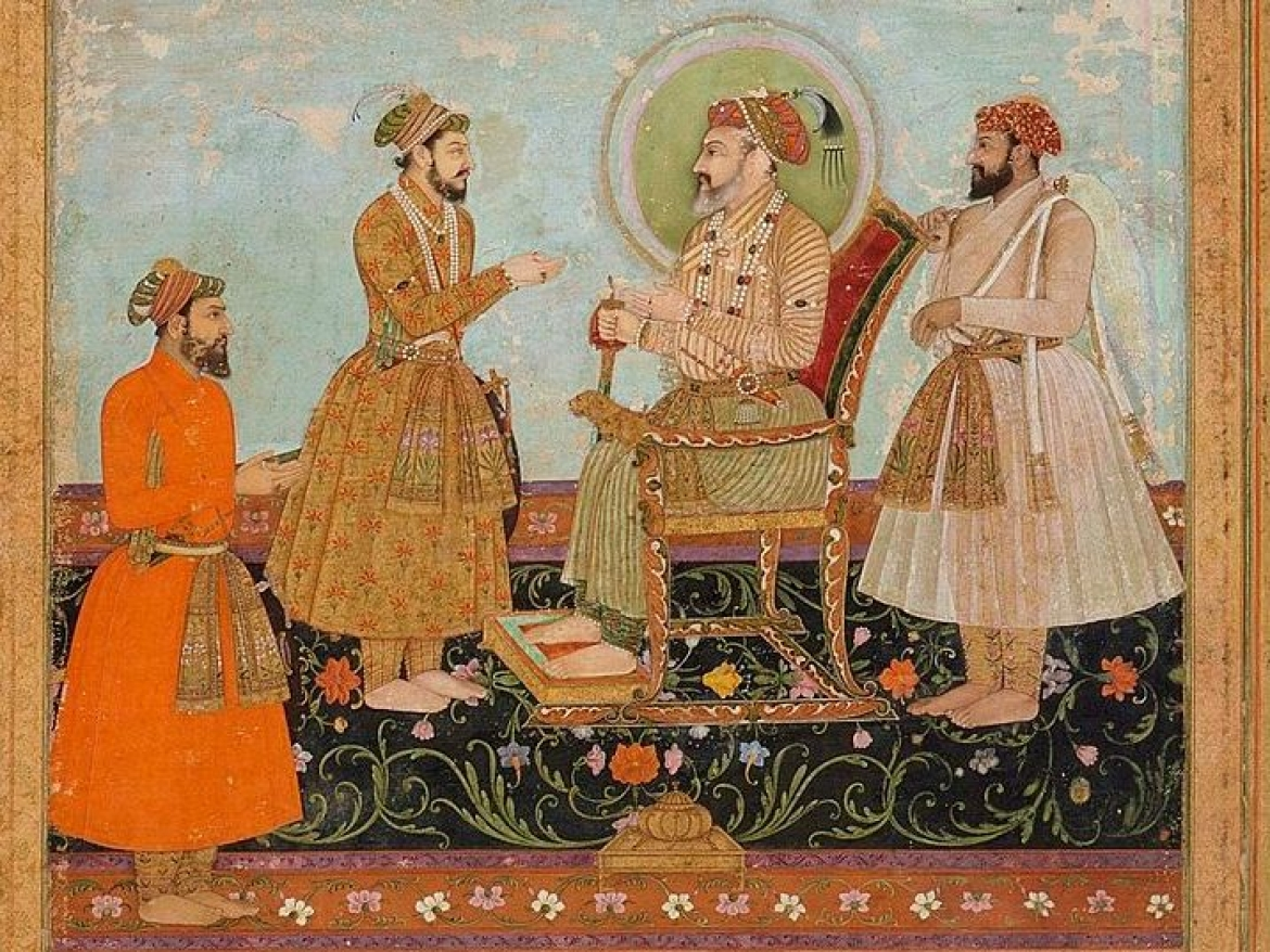 Shah Jahan receiving his son Dara Shukoh
