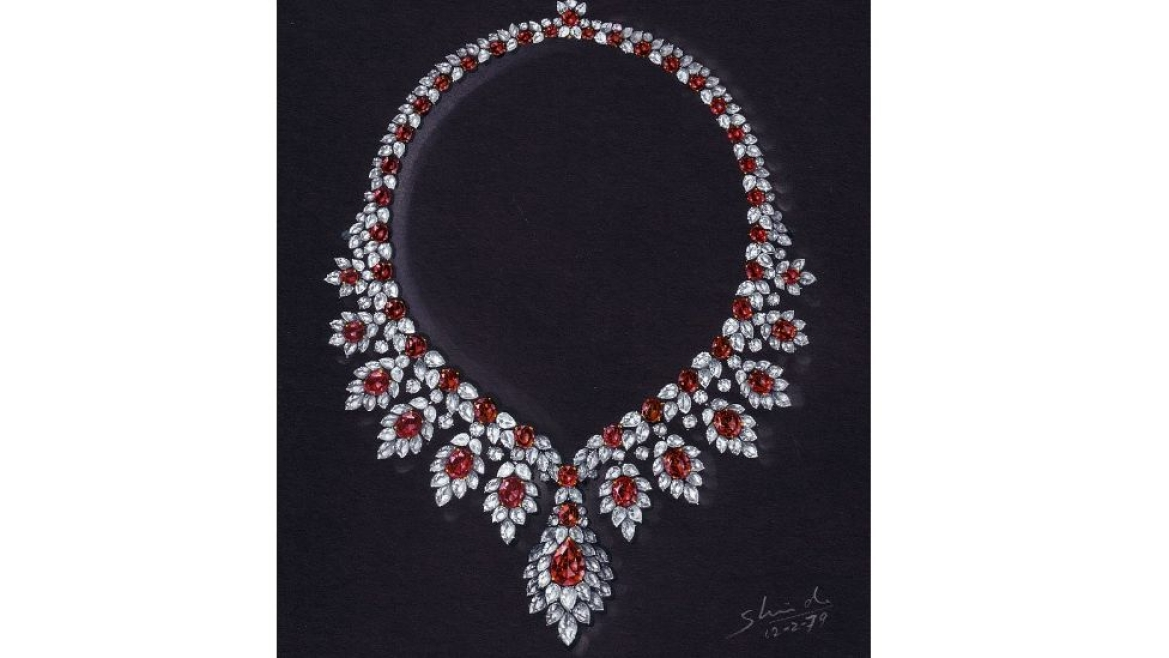Shinde's design for a Ruby necklace