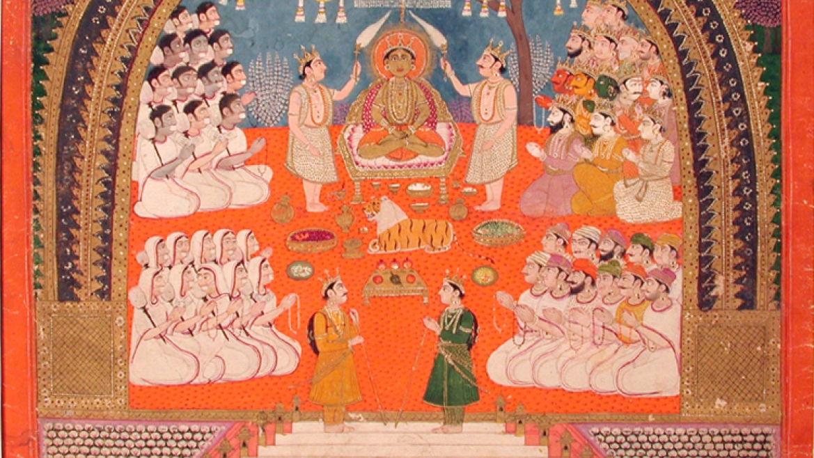 Mahavira worship in a manuscript c. 1825