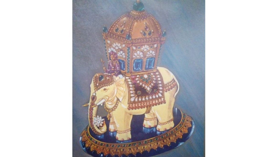 A Bejewelled Elephant design by Shinde, sent by him to his nephew