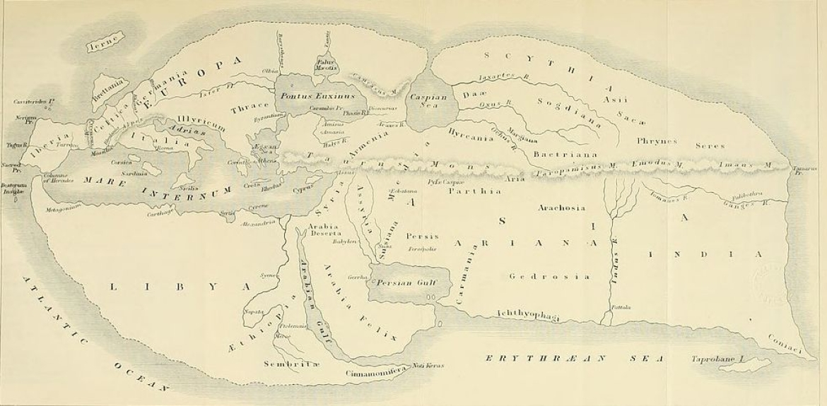 The world according to Greek geographer Strabo