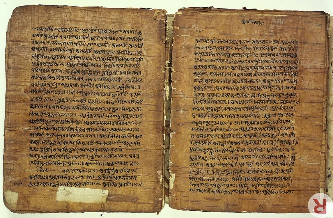 A 17th-century birch bark manuscript of Panini's grammar treatise from Kashmir