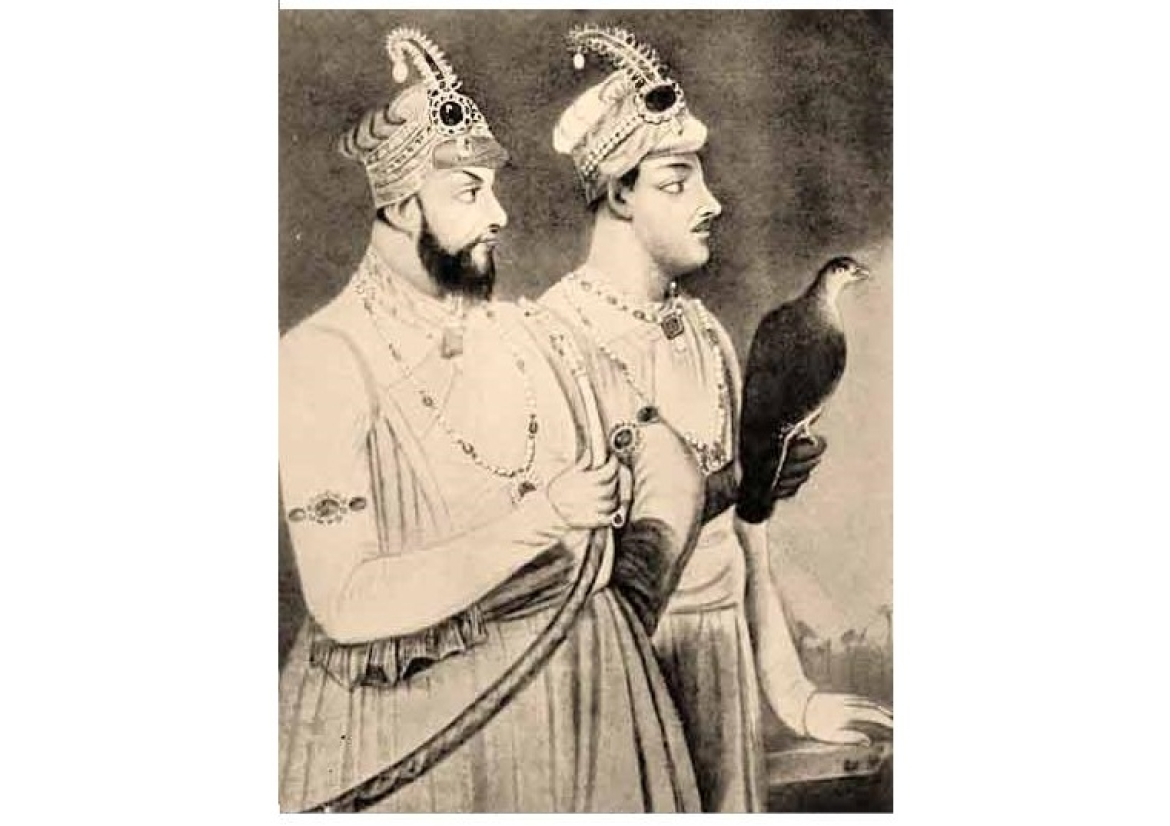 Mir Jafar with his son