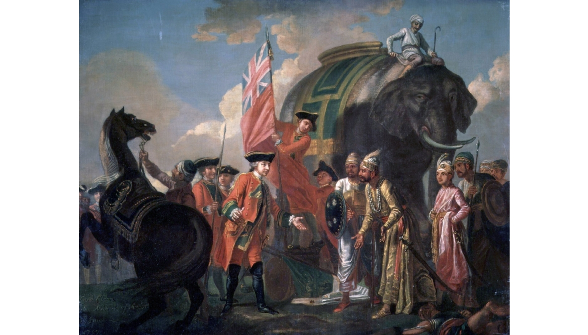 Clive meeting  Mir Jafar after the Battle of Plassey, by Francis Hayman, 1762