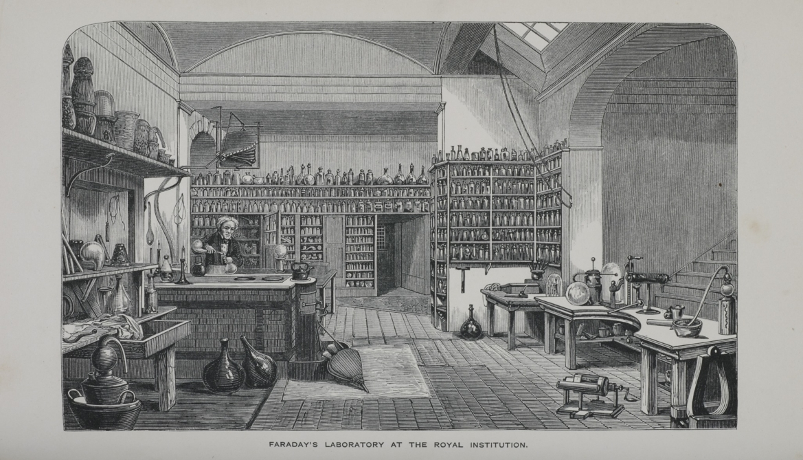 Michael Faraday in his Laboratory