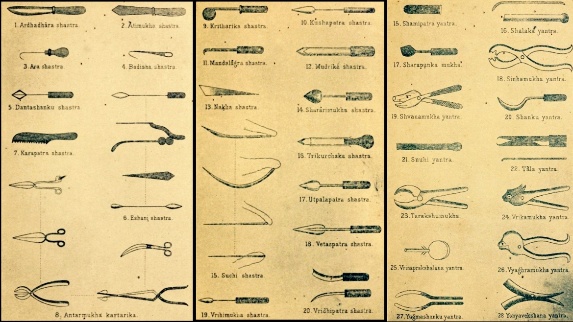 Surgical instruments mentioned in Sushruta Samhita