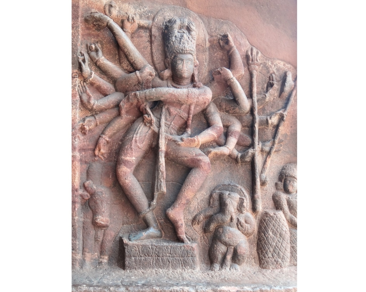 The Natyashastra influenced other arts in ancient and medieval India. The dancing Shiva sculpture in Badami cave temples (6th–7th century CE), for example, illustrates its dance movements and Lalatatilakam pose