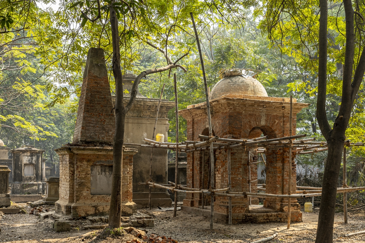Tombs under restoration