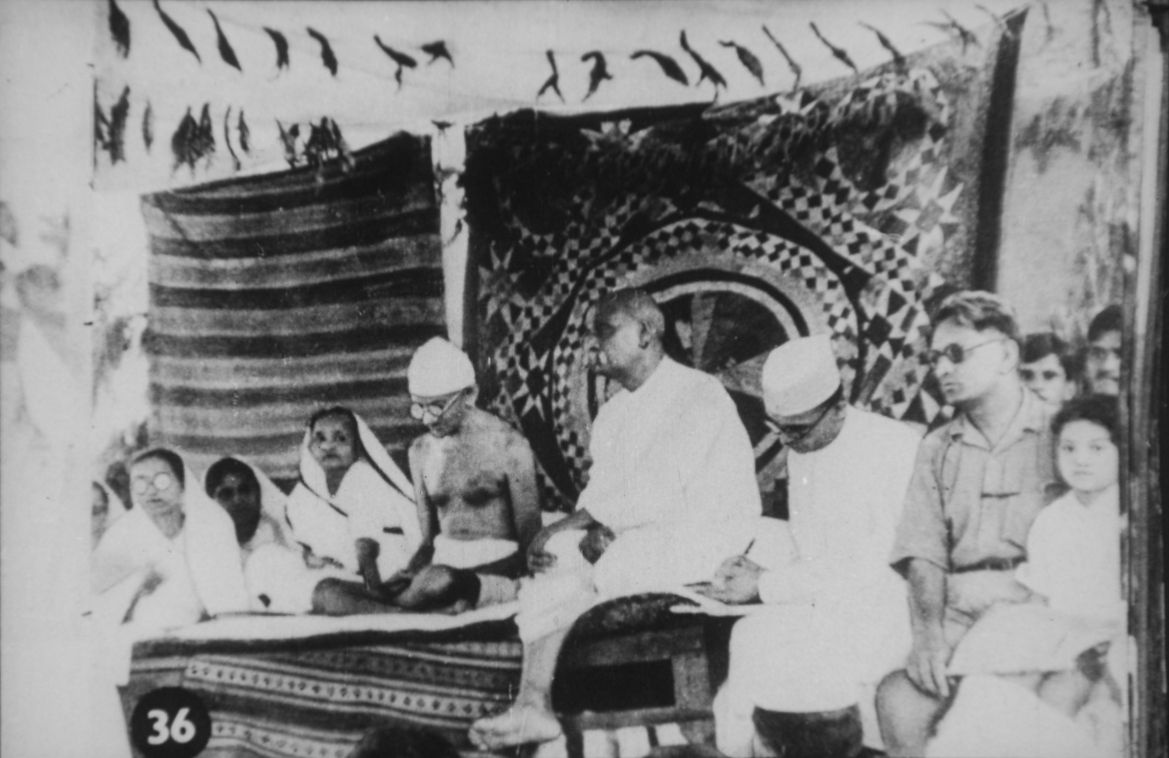 Mahatma Gandhi and Sardar Patel at Bardoli Satyagraha