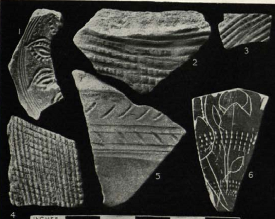 Decorated pottery fragments from the southern sector of the site