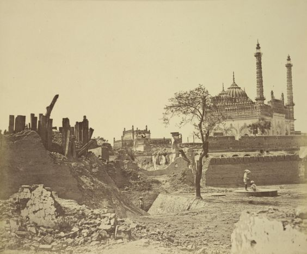 Ruins of a Sepoy Battery after Indian Mutiny - Lucknow, 1858