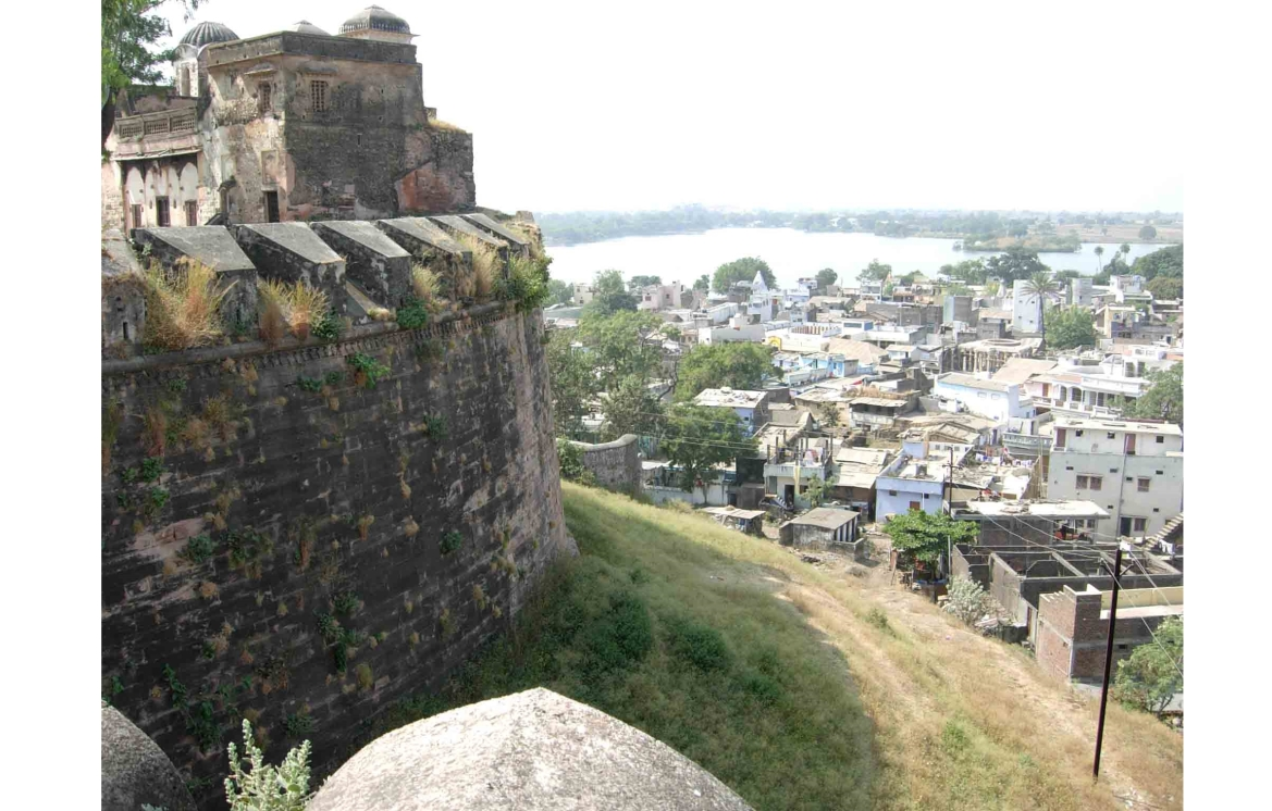 View of Dhar from its fort