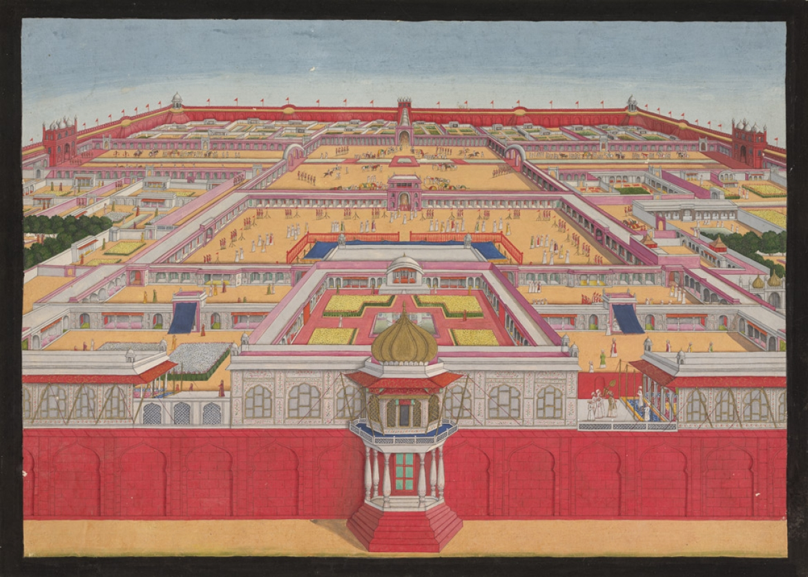 A bird's eye view of the Red Fort, 1785