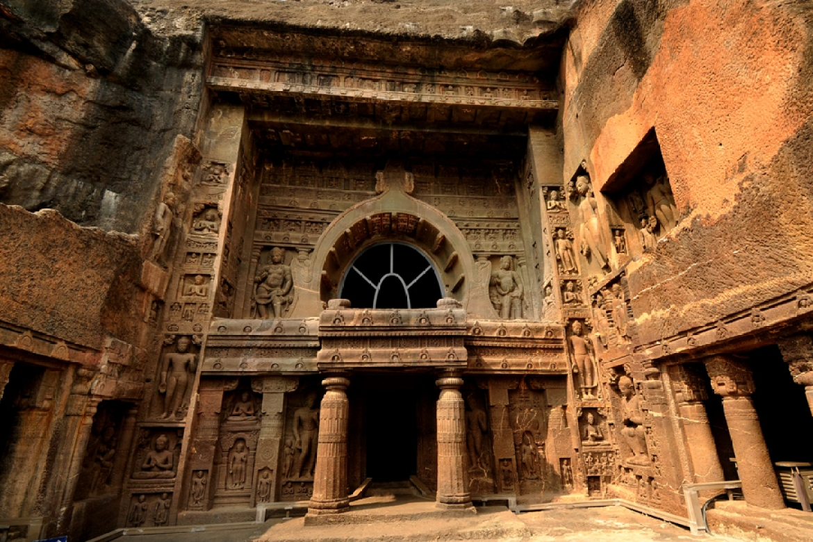Cave 19, Ajanta, a 5th-century chaitya hall