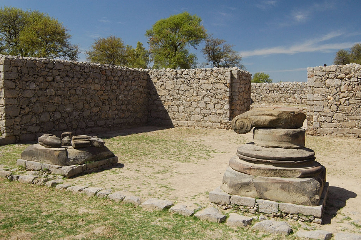 Remnants of a Zoroastrian fire temple from the era of the Indo-Parthians at Jandial