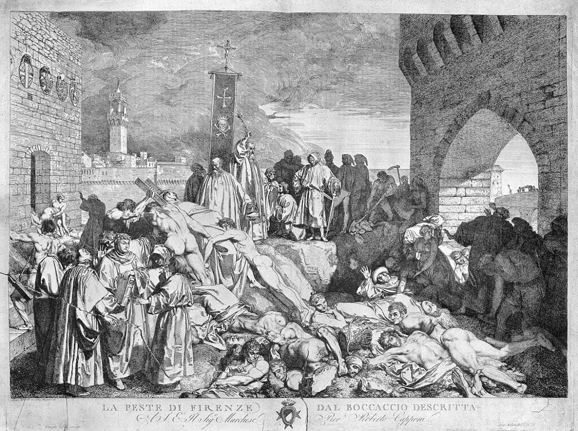 The plague of Florence in 1348, as described in Boccaccio's