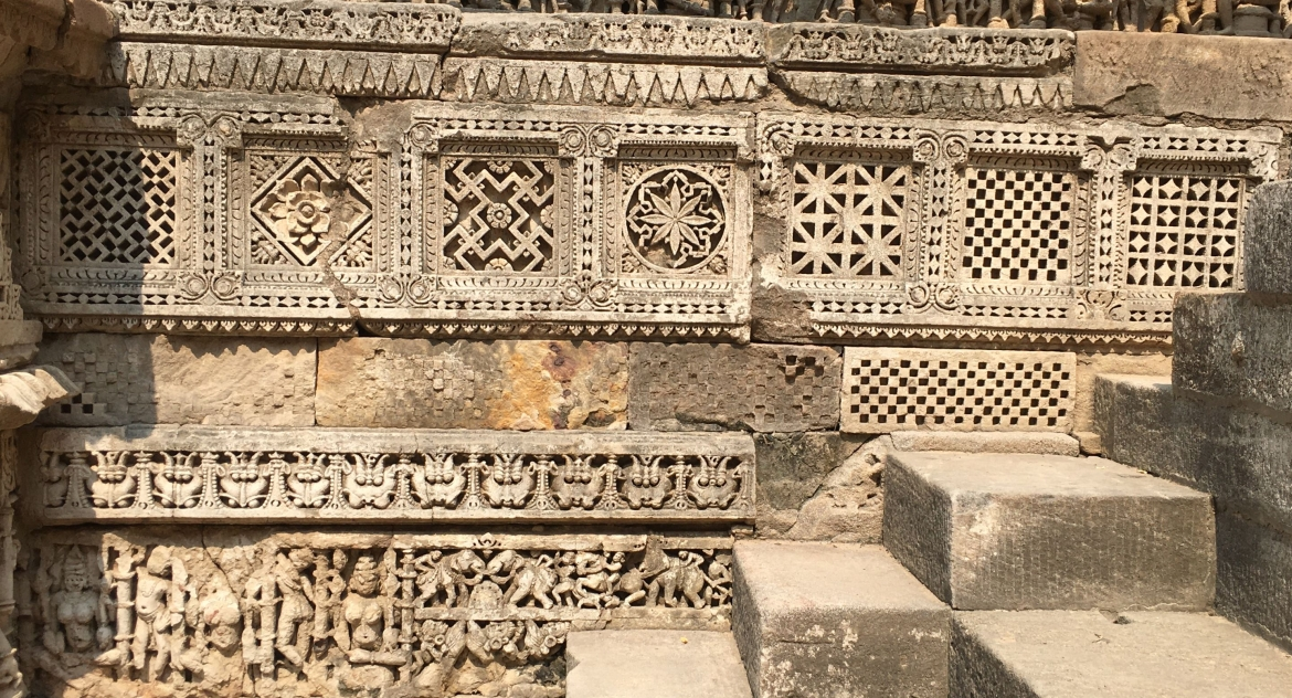 The patterns which are also seen on the Patan Patola sarees