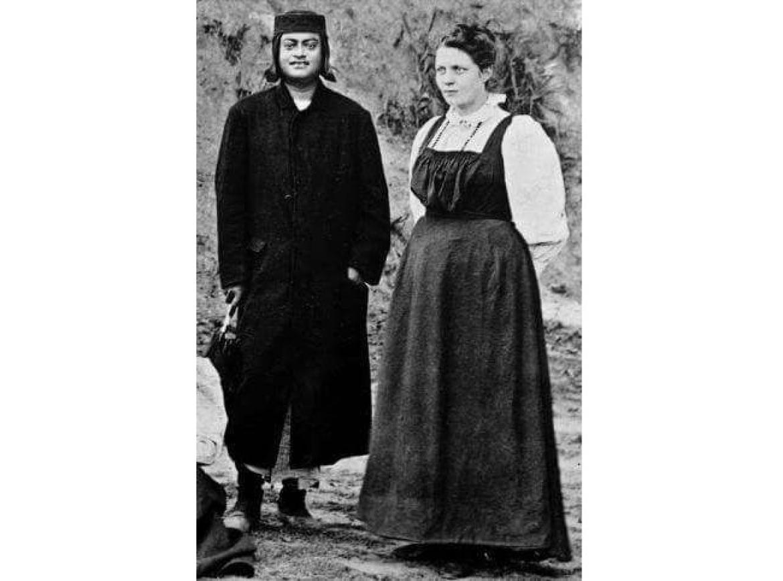 Sister Nivedita with Swami Vivekanada