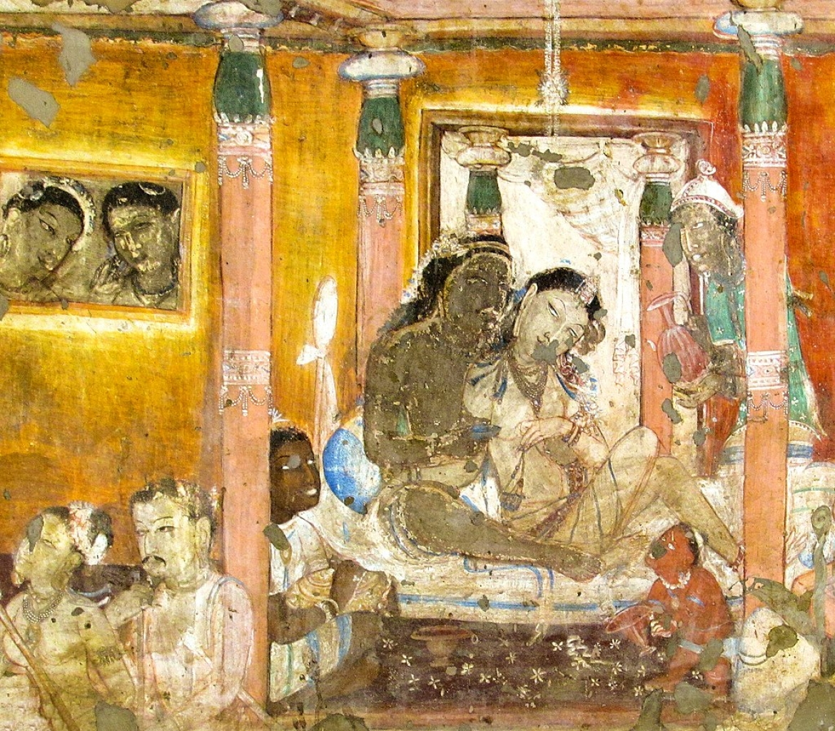 Painting from Vessantara Jataka: the story of the generous king Vessantara