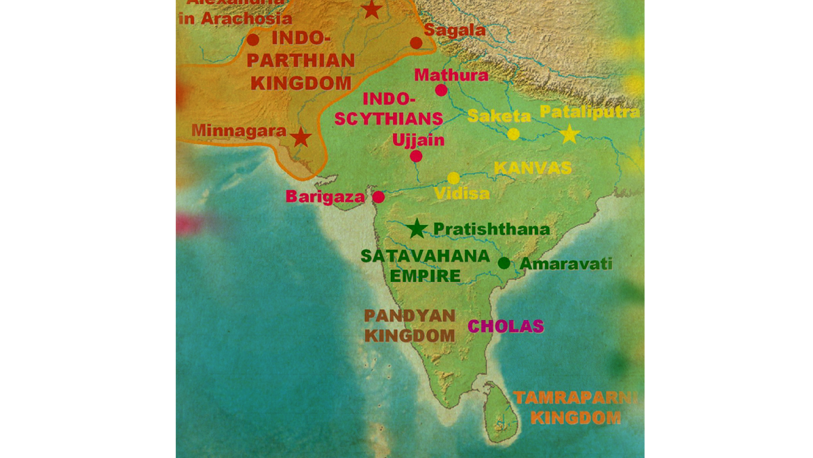 Extent of the Indo-Parthian Kingdom
