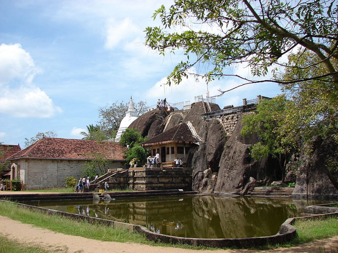 Isuruminiya rock-cut temple and pond