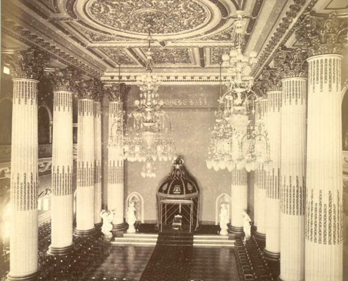 Durbar Hall with the gold throne