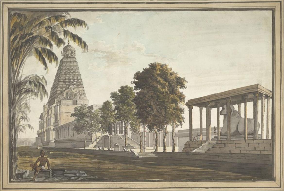 The Brihadisvara Temple with the Nandi pavilion, 1801