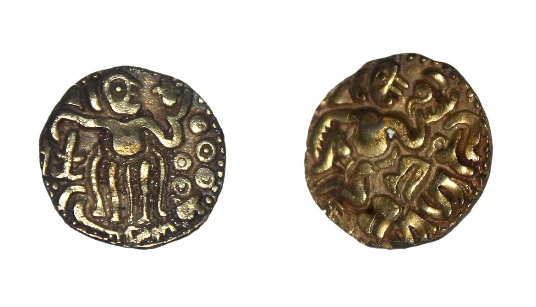 Gold coins of Rajaraja Chola