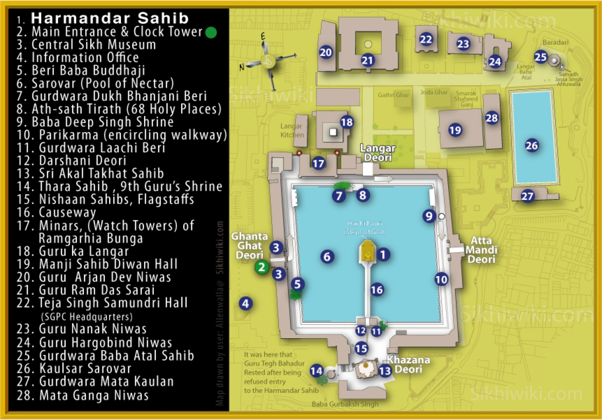Plan of the Golden Temple