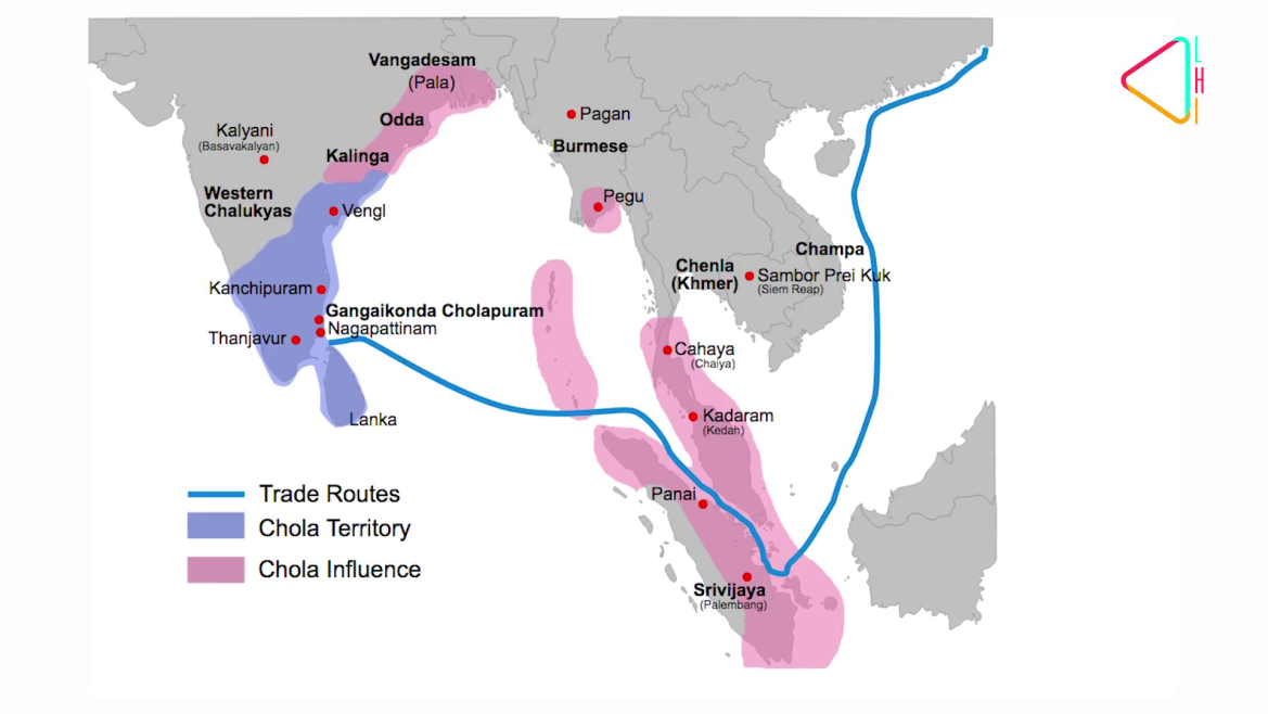 The expanse of the Chola empire