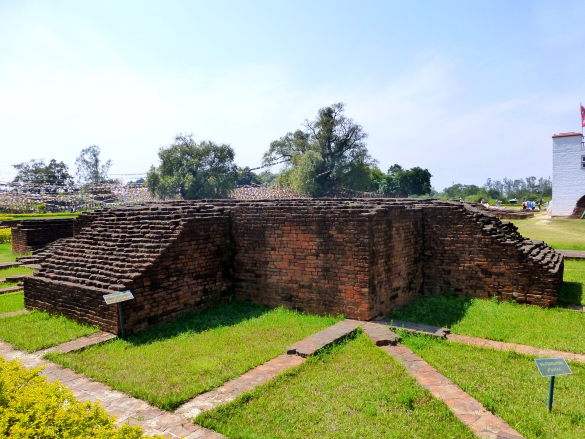 Excavated remains at Lumbini