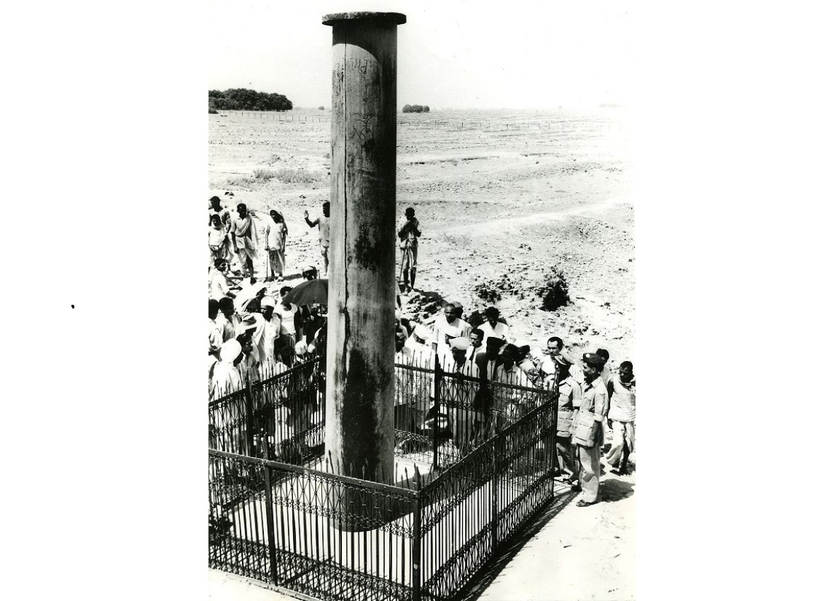 The Ashoka Pillar at Lumbini, 1965