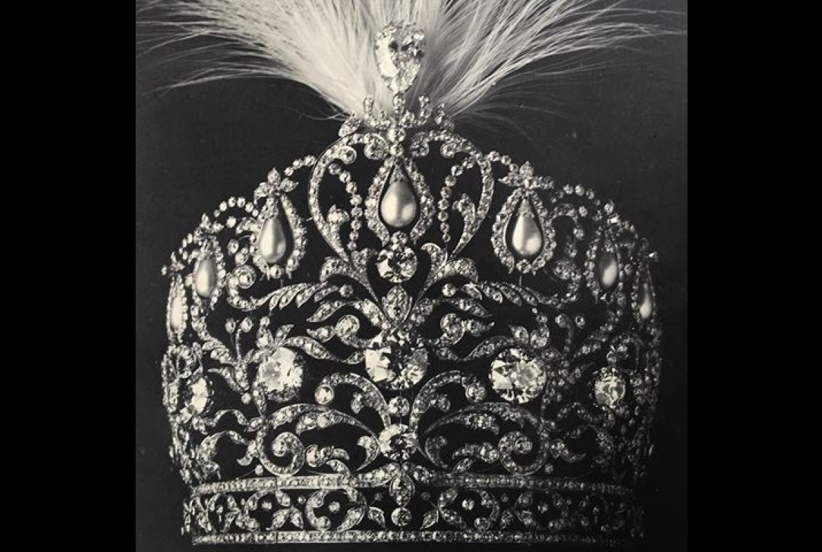 Rampur Crown (Nawab Sir Raza Ali Khan seen wearing it in the cover photo)