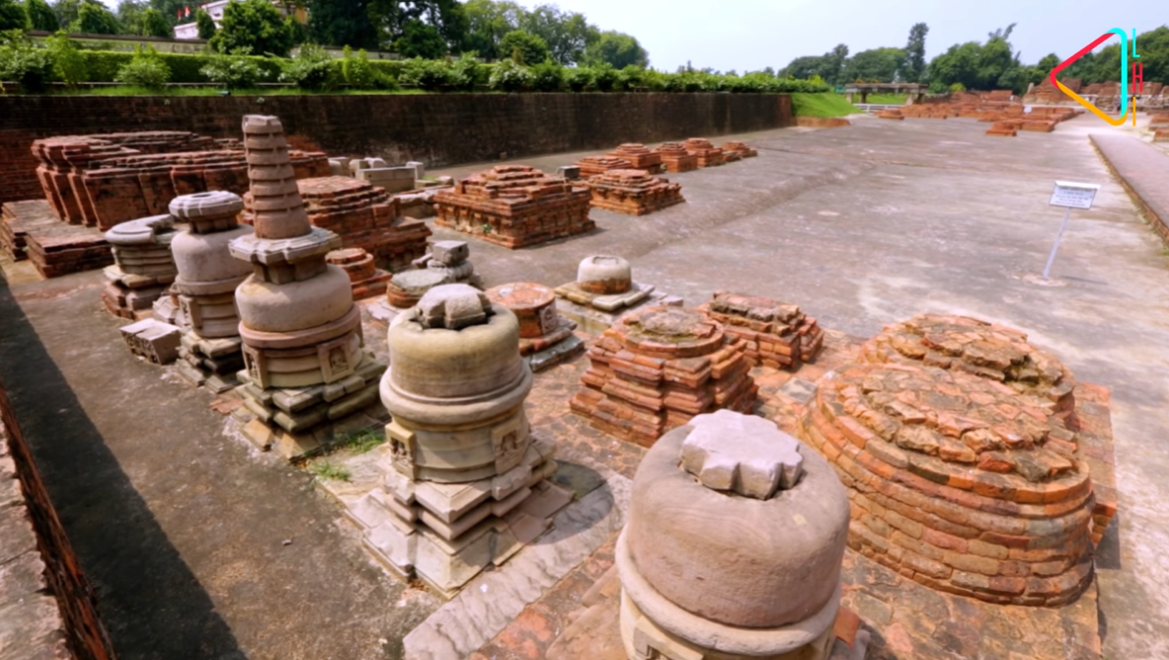 Votive Stupas at Sarnath - They are usually constructed to commemorate yatras or to gain spiritual benefits