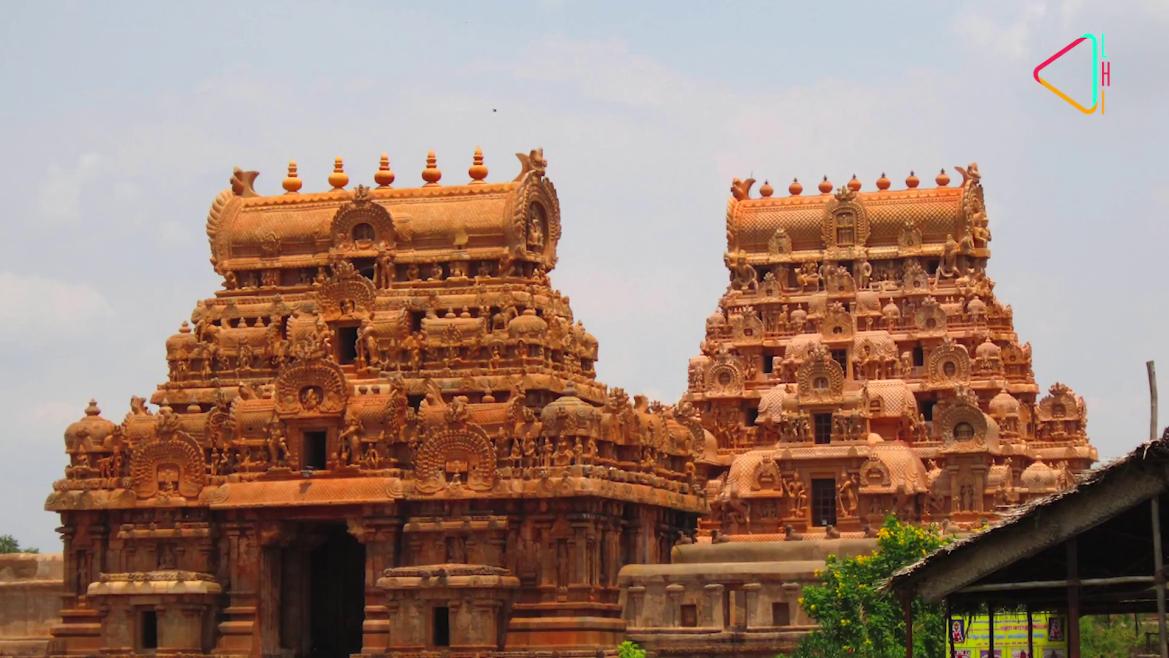 The <i>gopurams </i>at the temple