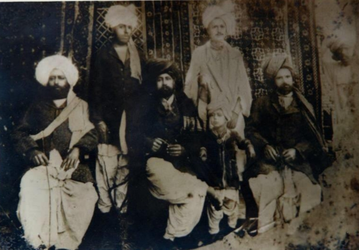 Grandsons and other relatives of Sardar Tek Singh, clicked around 1890s