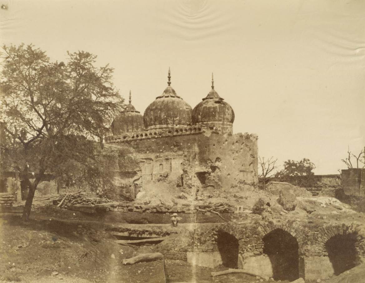 Ruins of the mosque, 1858