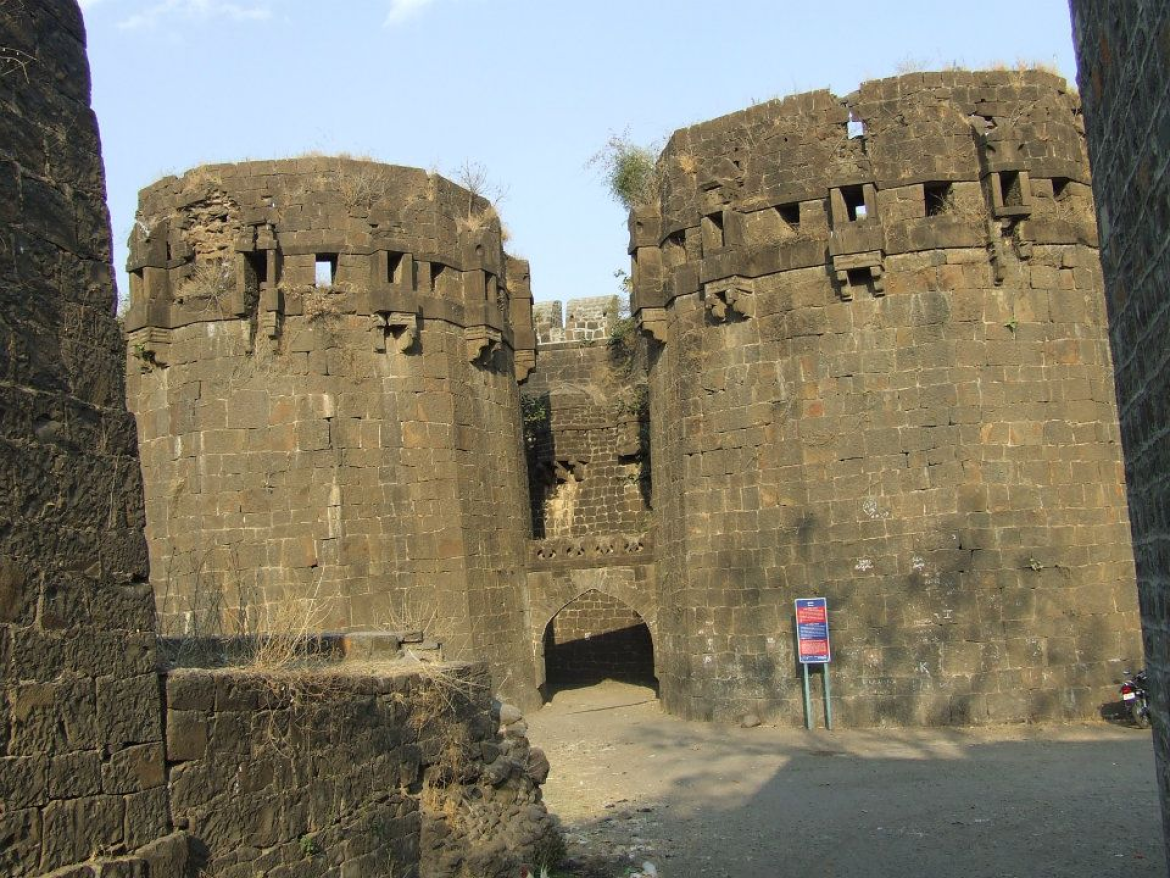The Entrance to the Fort of Naldurg, Dist Osmanabad, Maharashtra