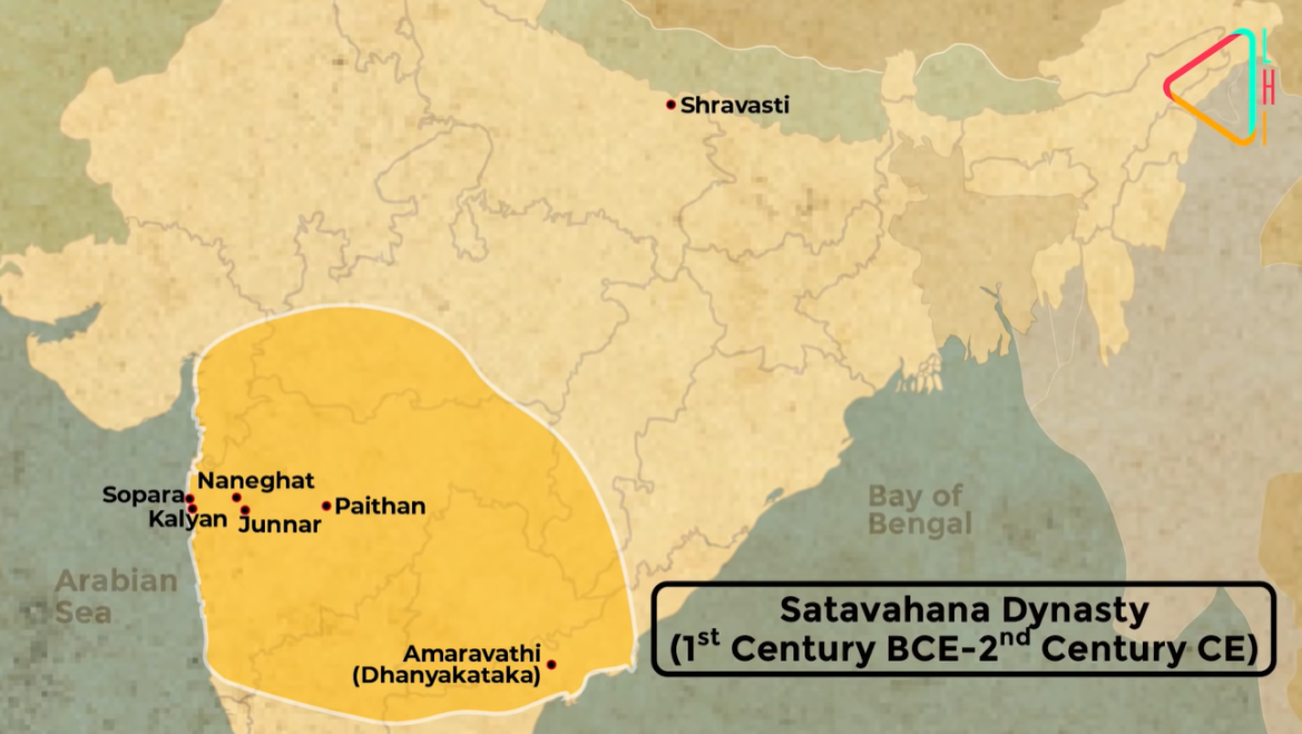 Extent of the Satavahana Empire during their peak